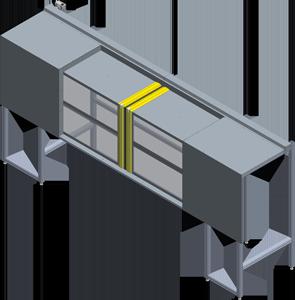 protezioni per macchinari a scorrimento orizzontale