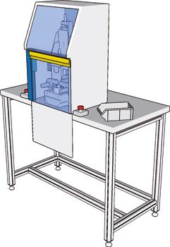 Ripari per macchine industriali I-Shape applicazione